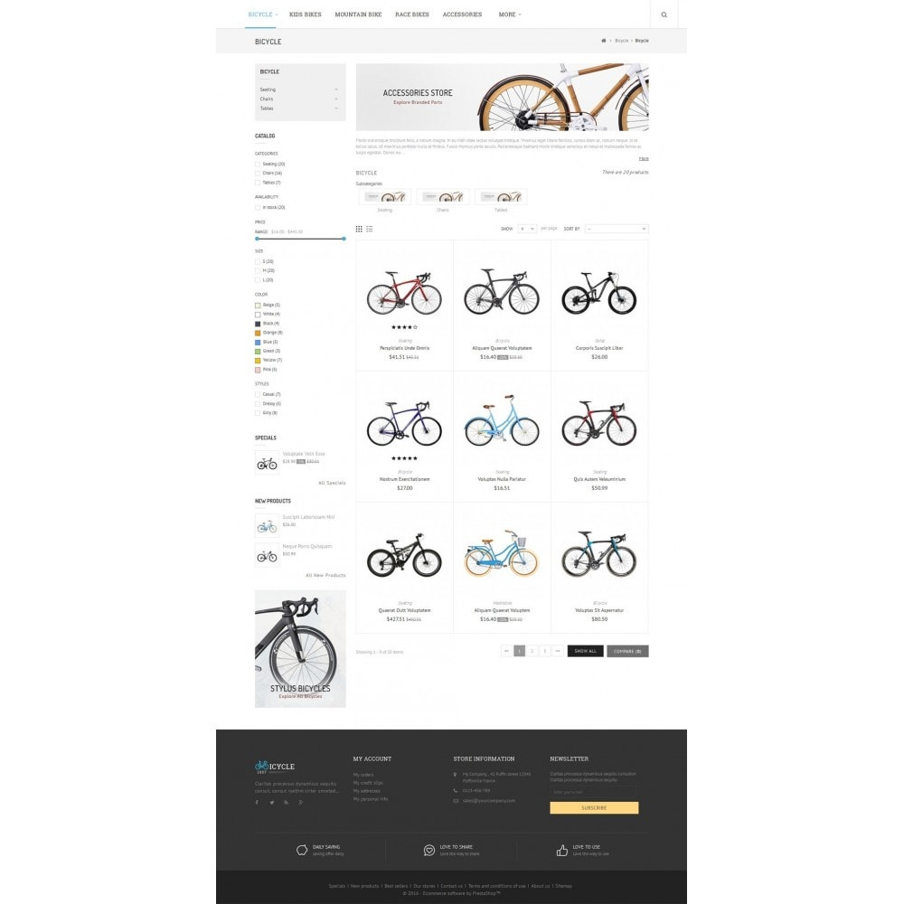 theme - Sports, Activities & Travel - Sport Bicycle Store - 4