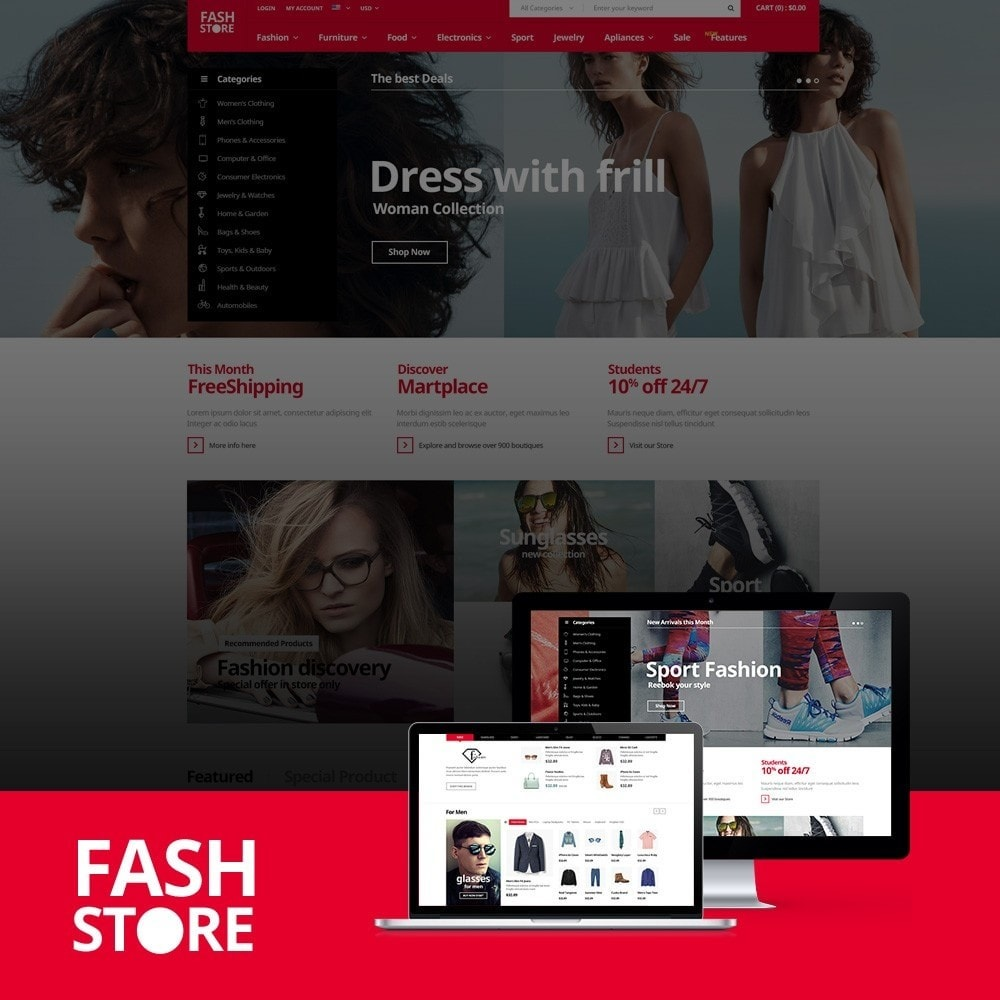 theme - Moda & Obuwie - FashStore - Suppermarket - 1