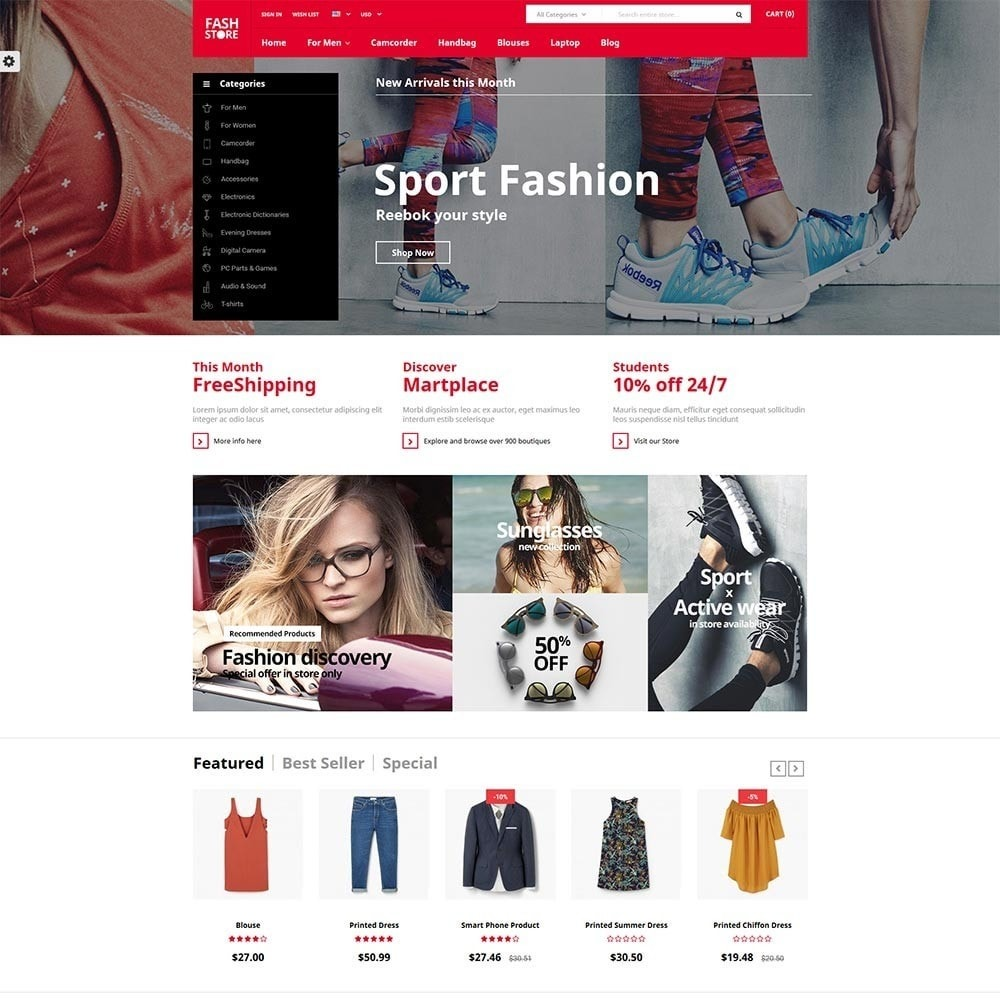 theme - Moda & Obuwie - FashStore - Suppermarket - 2