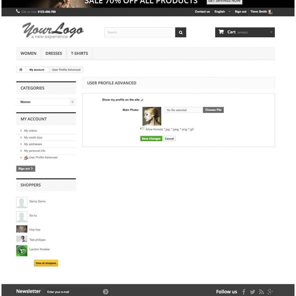 module - Gestión de clientes - User Profile Advanced - 1
