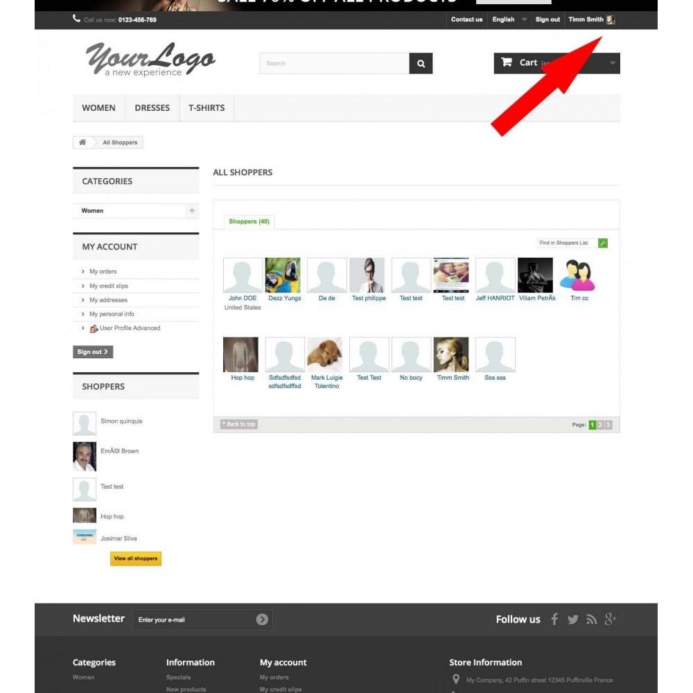 module - Customer Administration - User Profile Advanced - 2
