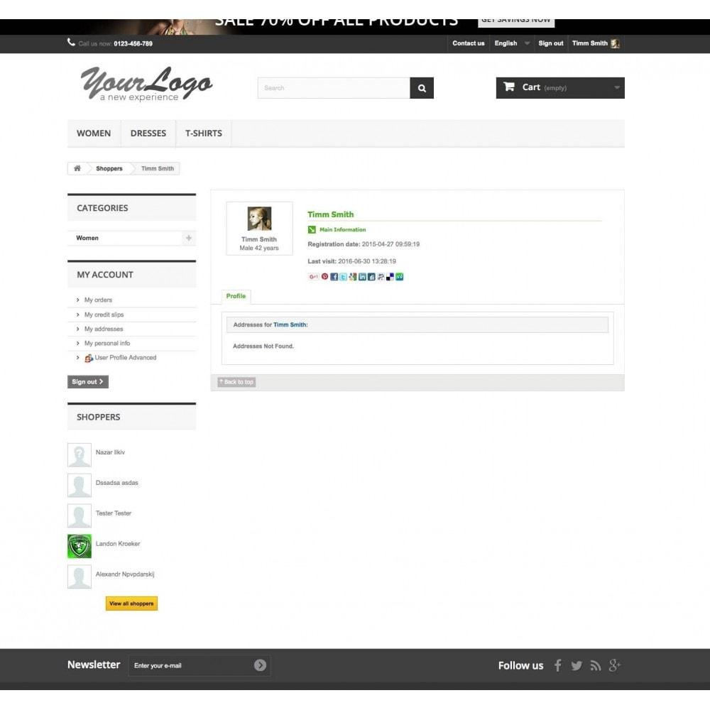module - Customer Administration - User Profile Advanced - 3