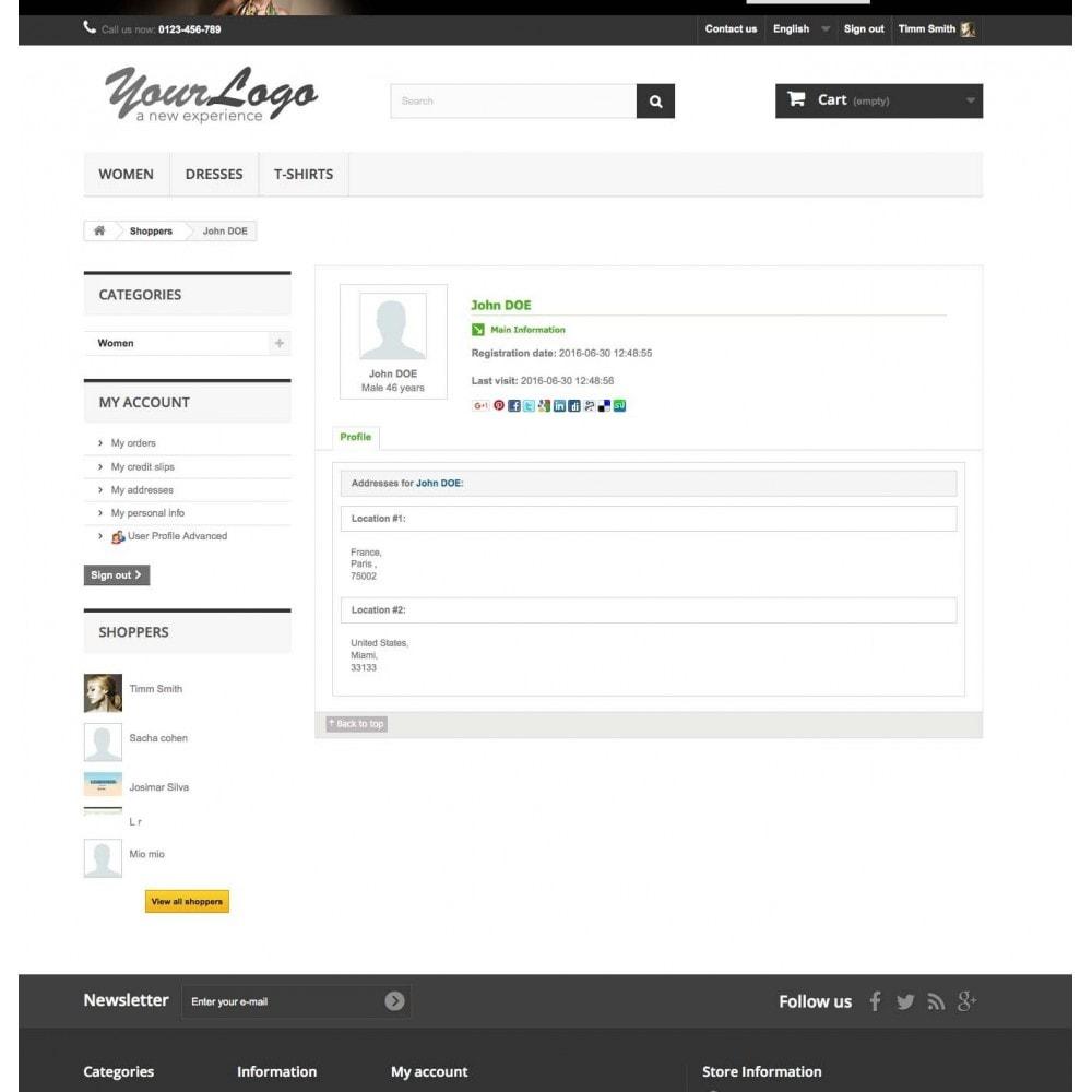 module - Customer Administration - User Profile Advanced - 4