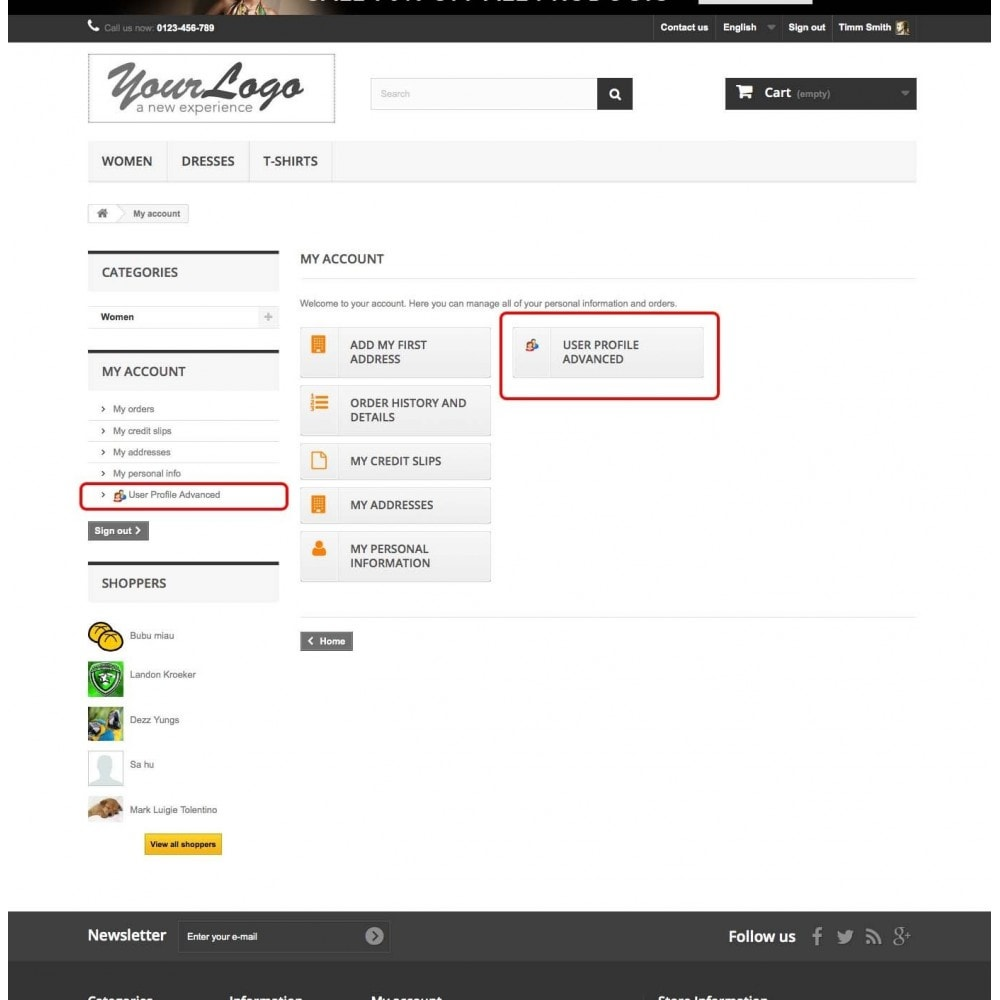 module - Customer Administration - User Profile Advanced - 8