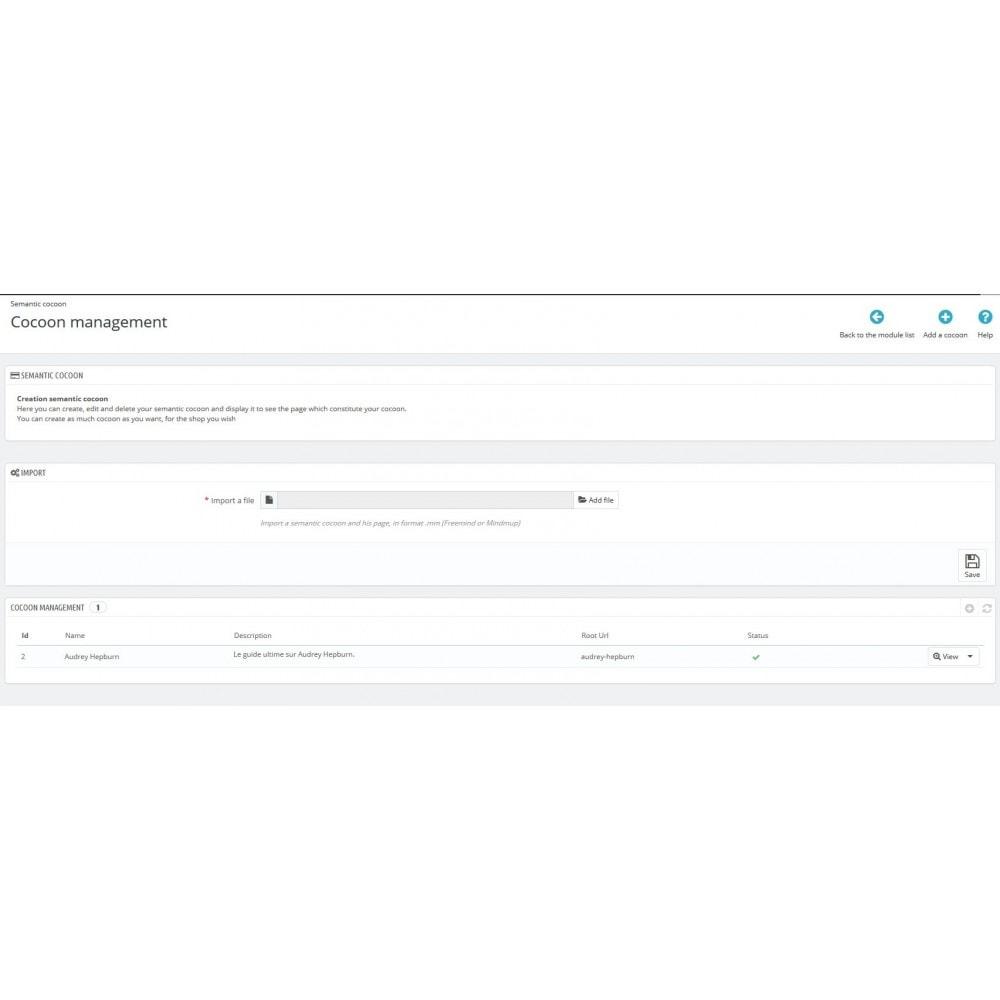 module - SEO (Pozycjonowanie naturalne) - Semantic Cocoon - 1