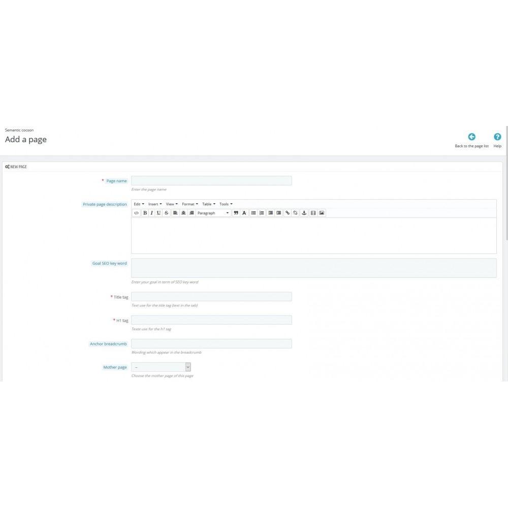 module - SEO (Pozycjonowanie naturalne) - Semantic Cocoon - 4