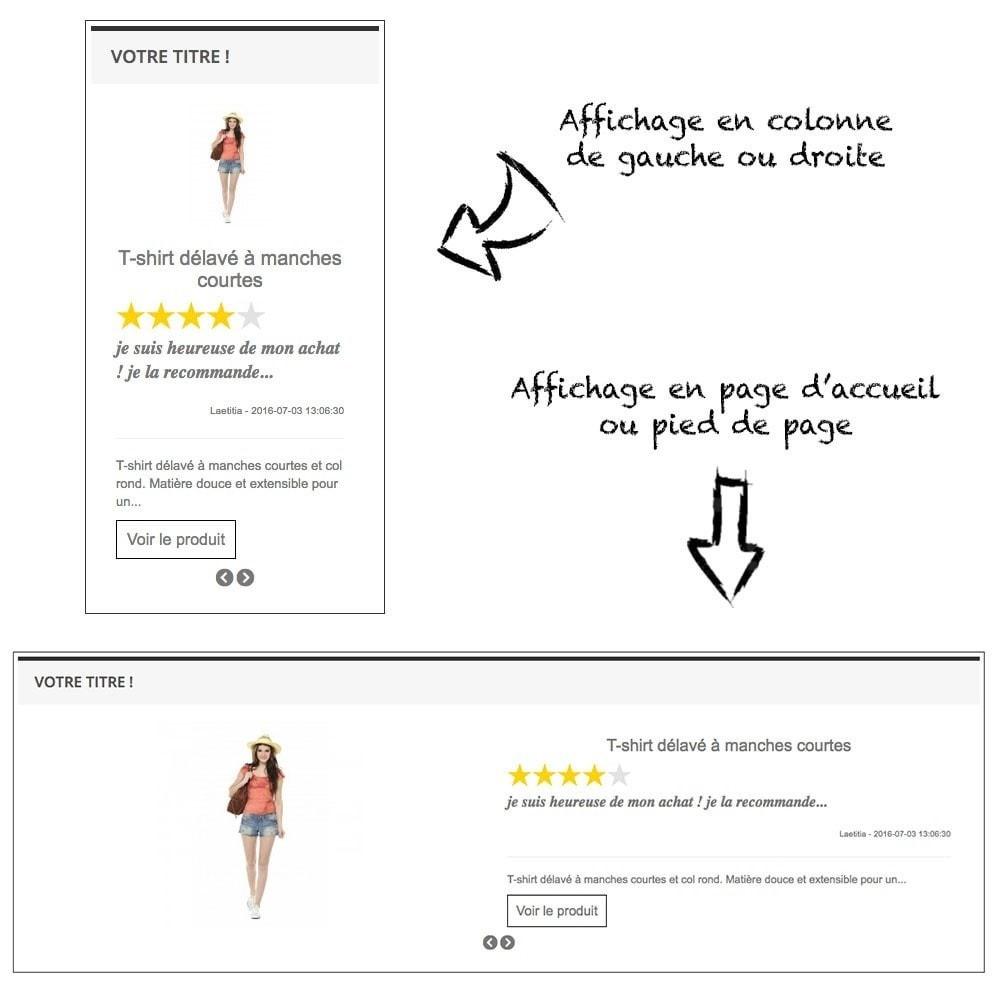 module - Sliders & Galeries - Diaporama des avis et commentaires produits - 1