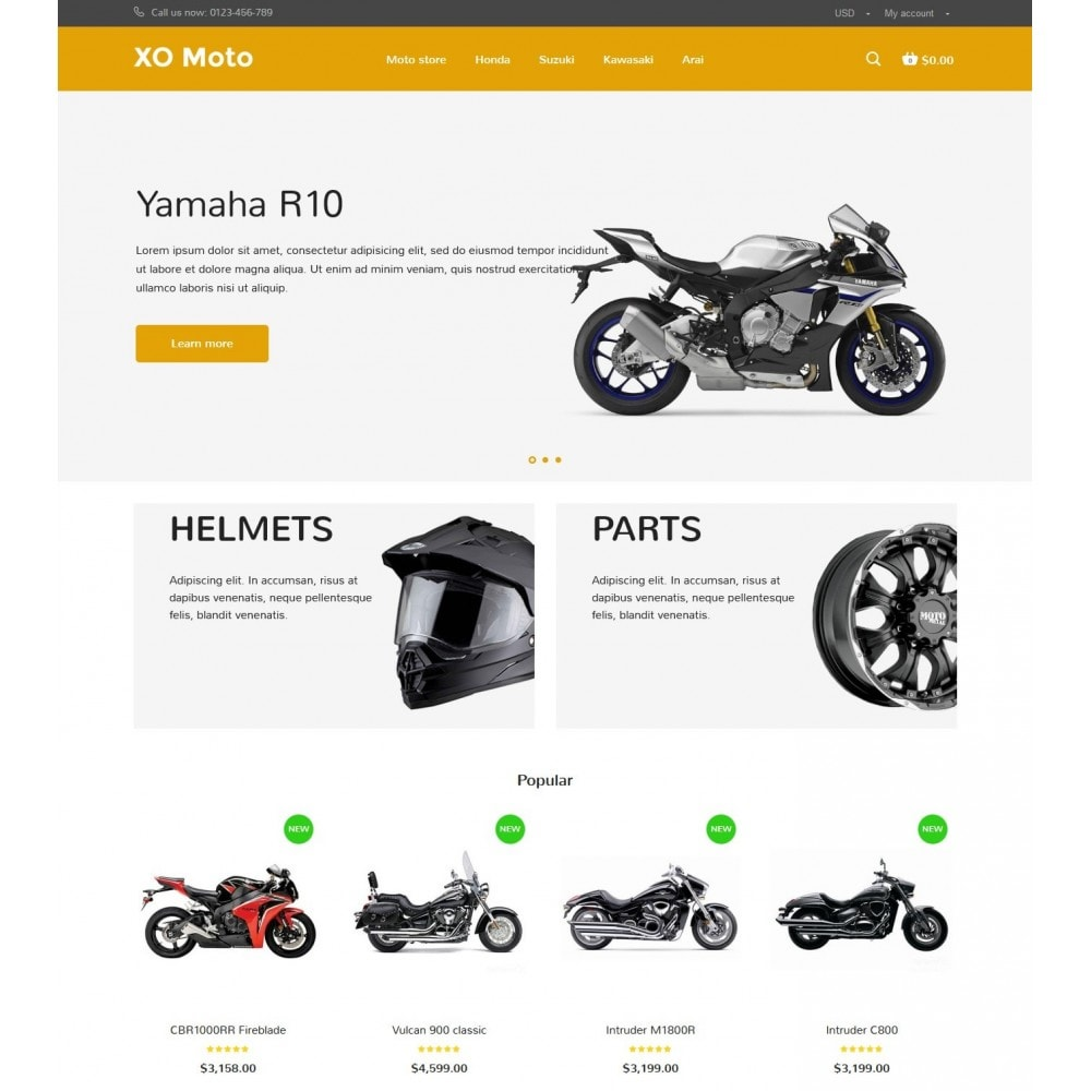 theme - Automotive & Cars - XO moto - 2