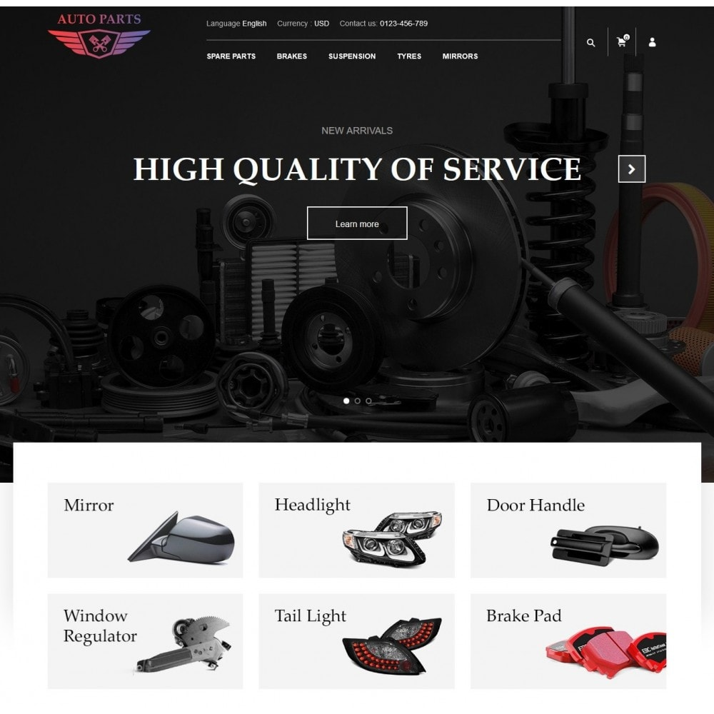 theme - Coches y Motos - AutoParts Store - 2