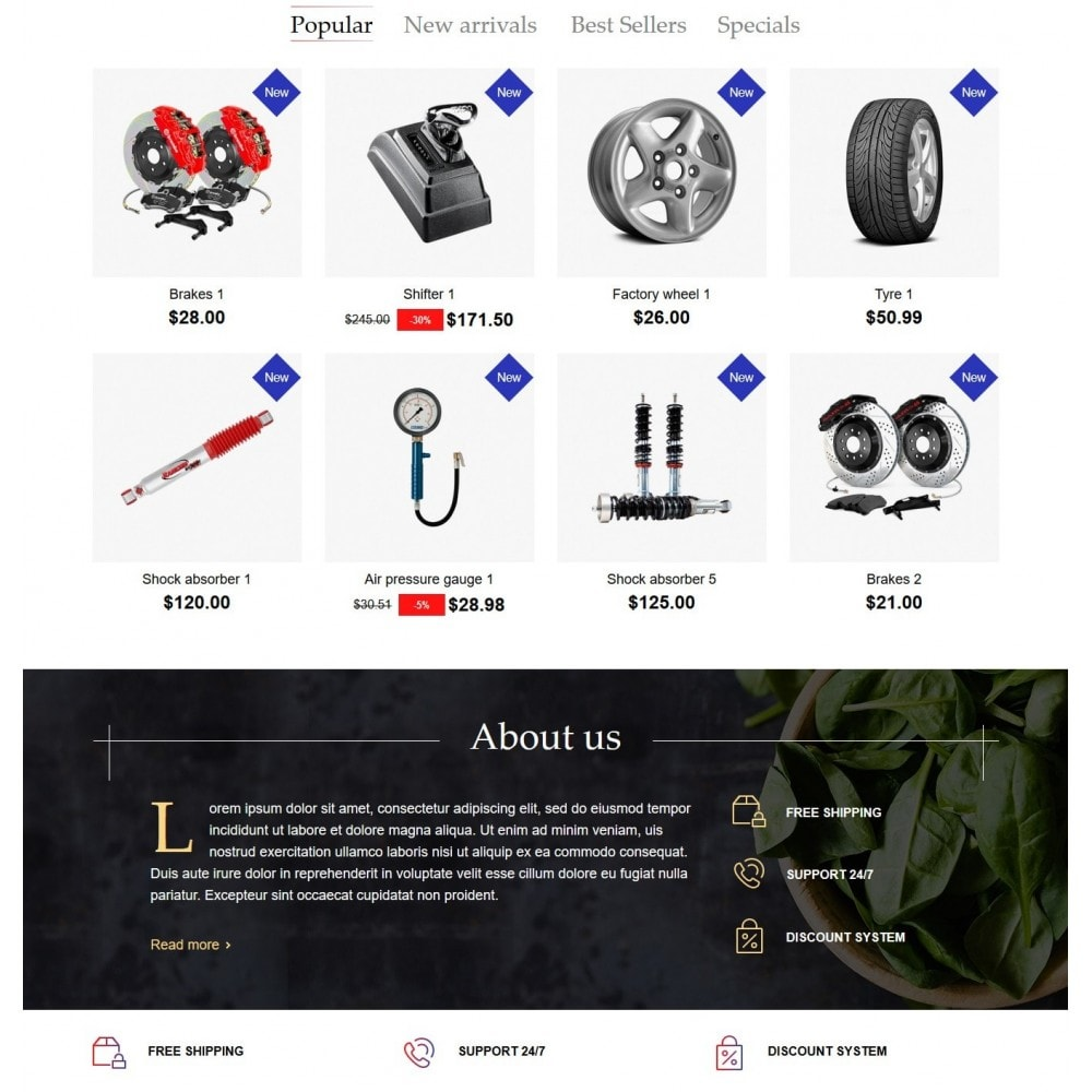 theme - Coches y Motos - AutoParts Store - 3