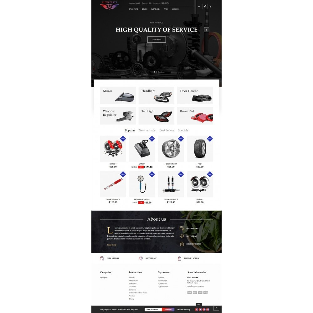 theme - Coches y Motos - AutoParts Store - 4