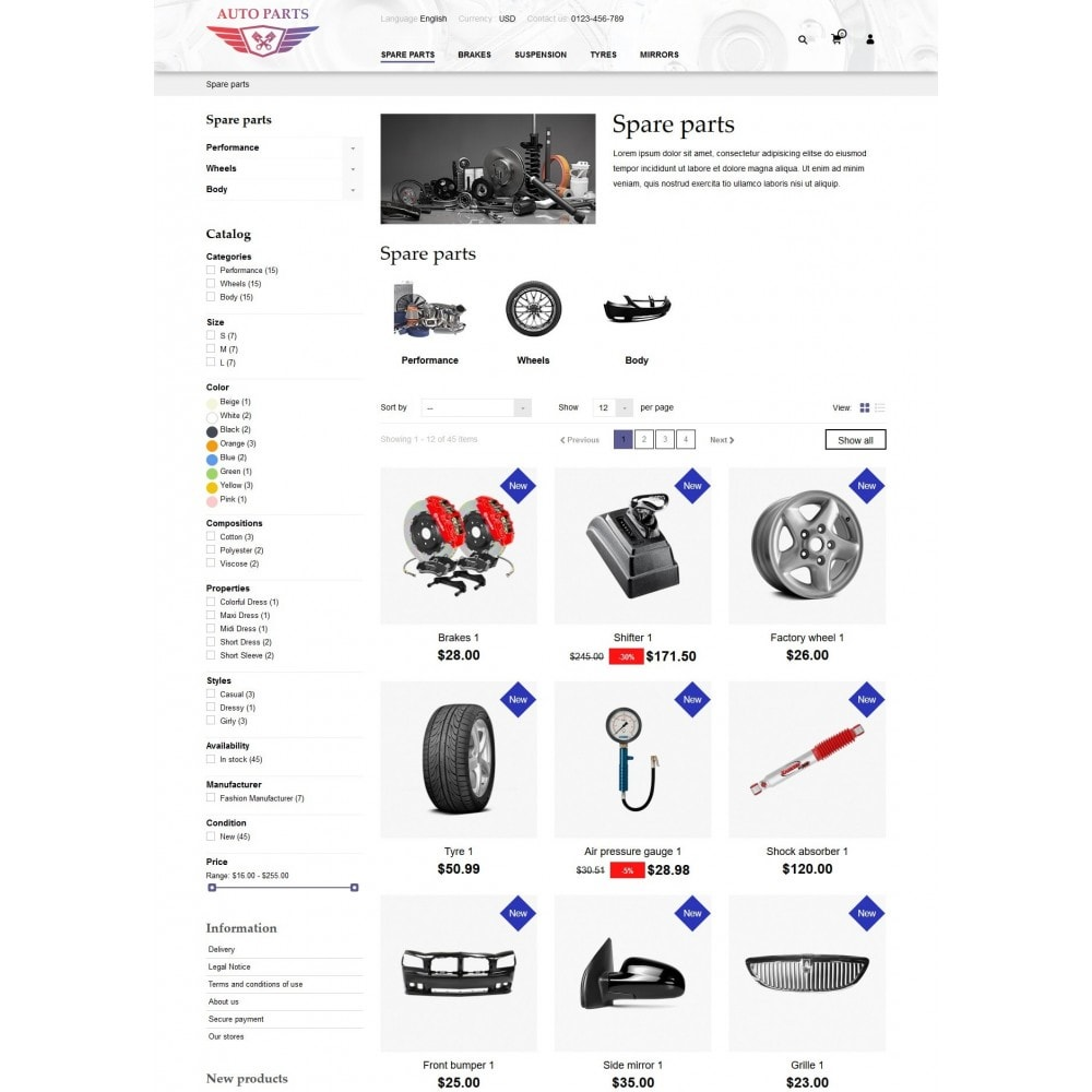 theme - Coches y Motos - AutoParts Store - 8