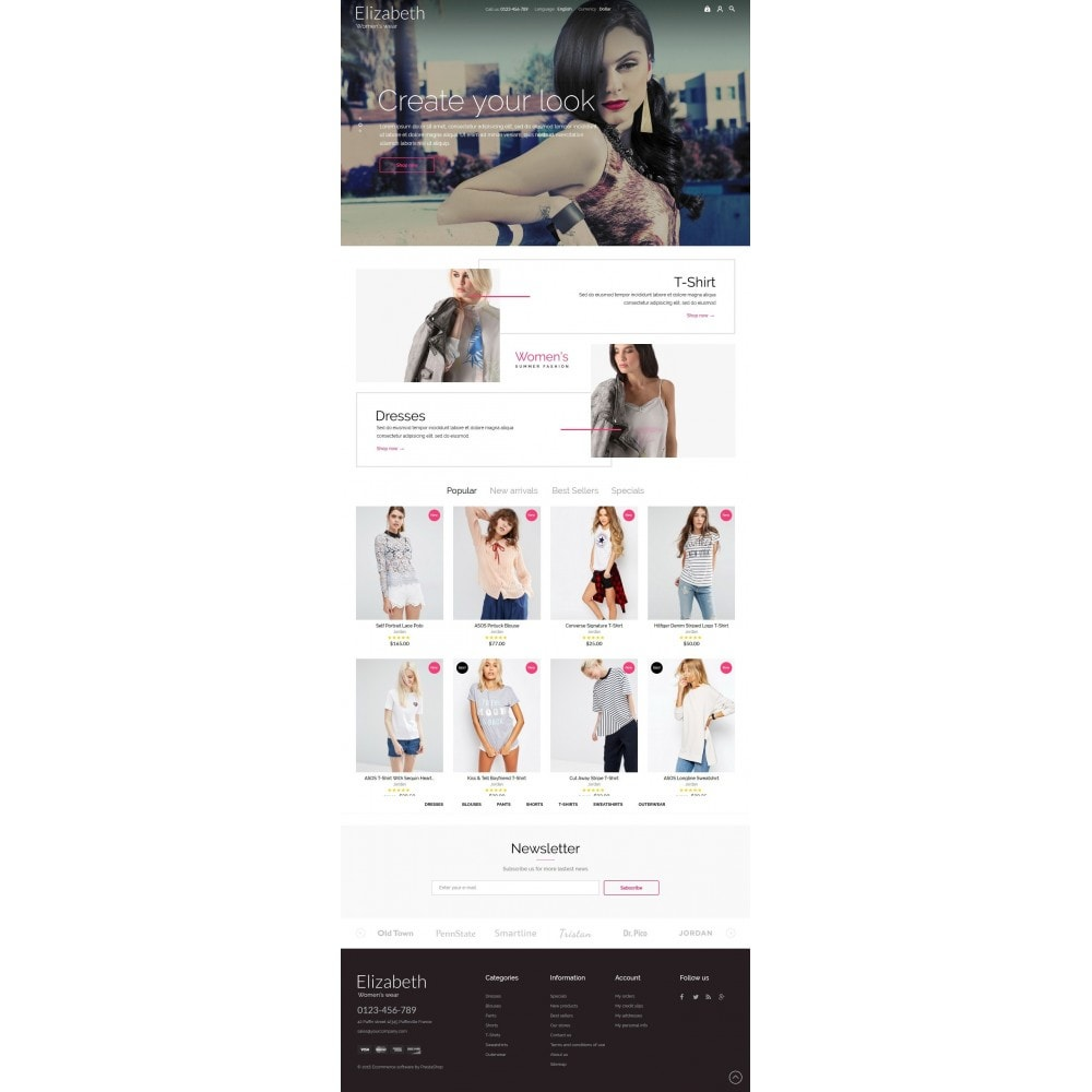 theme - Мода и обувь - Elizabeth Fashion Store - 2