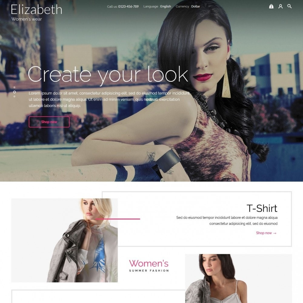 theme - Мода и обувь - Elizabeth Fashion Store - 3