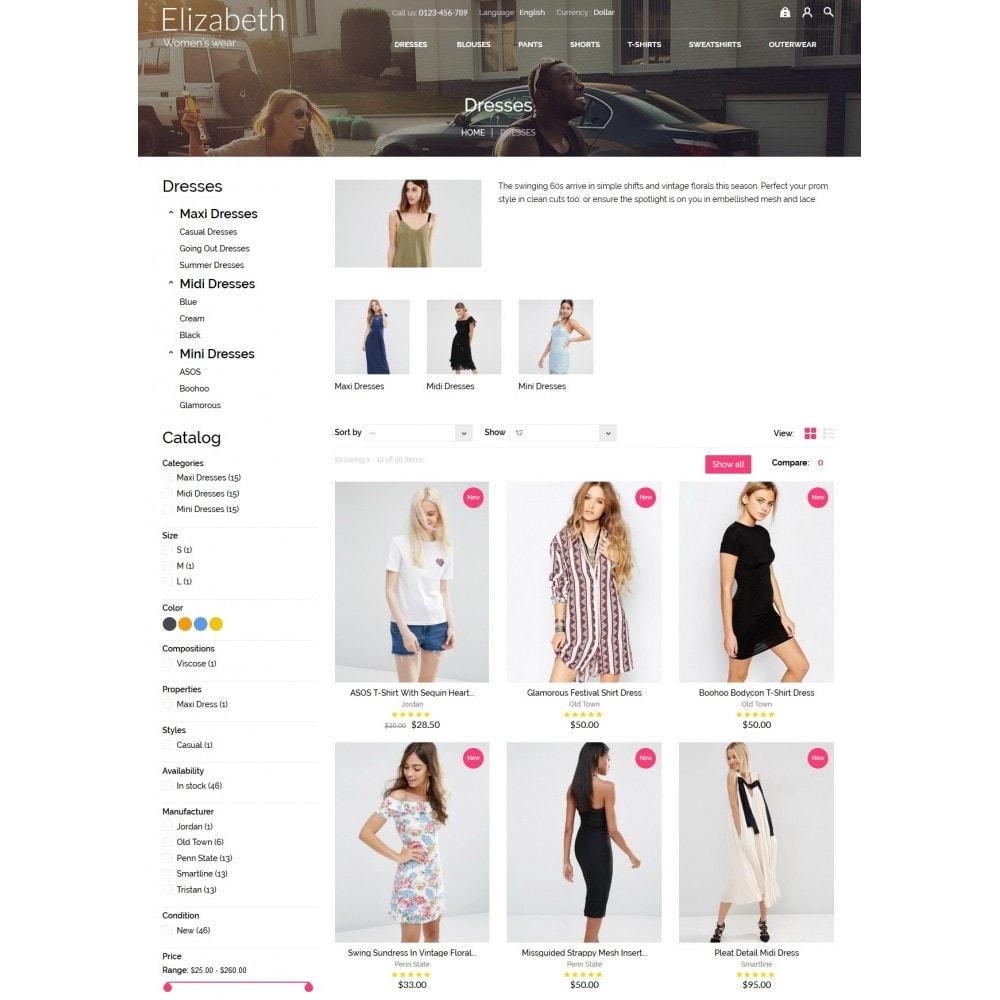 theme - Мода и обувь - Elizabeth Fashion Store - 5