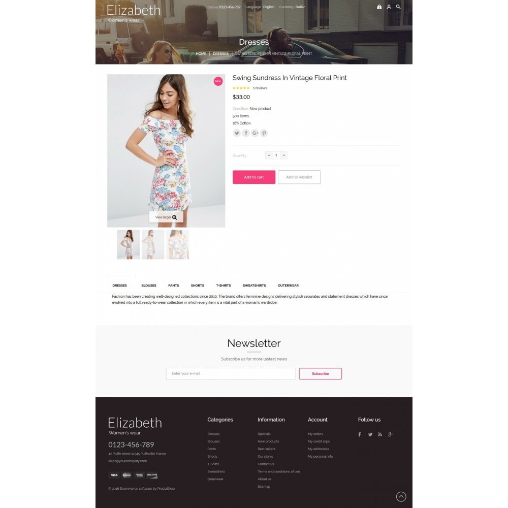 theme - Мода и обувь - Elizabeth Fashion Store - 7