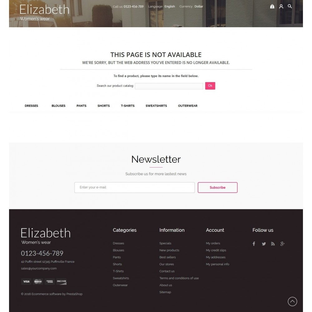 theme - Мода и обувь - Elizabeth Fashion Store - 10