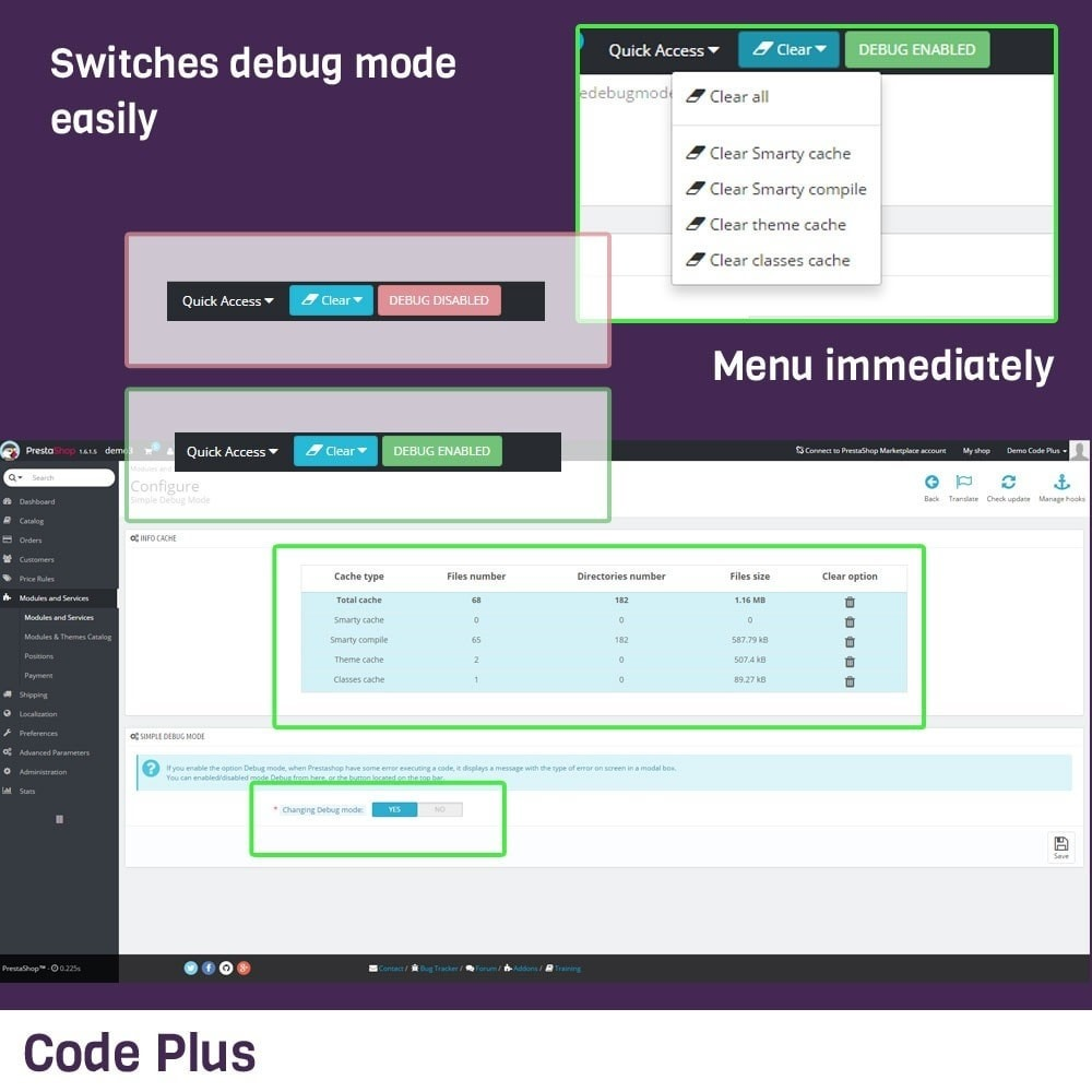 module - Outils d'administration - Simple Debug Mode - 1