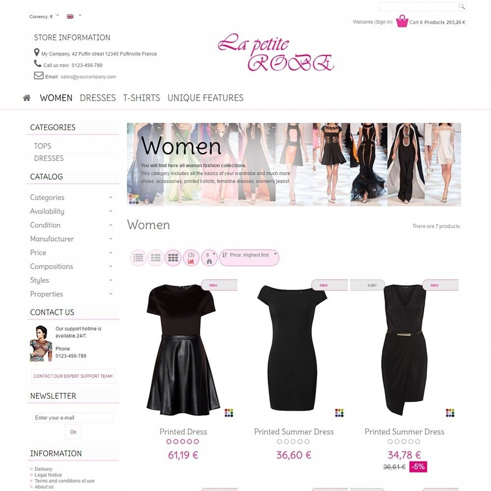 theme - Mode & Chaussures - La Petite Robe - 3