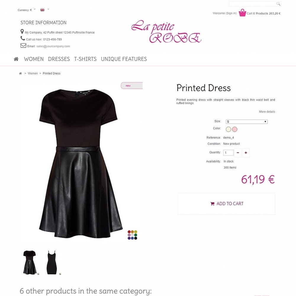 theme - Mode & Chaussures - La Petite Robe - 4