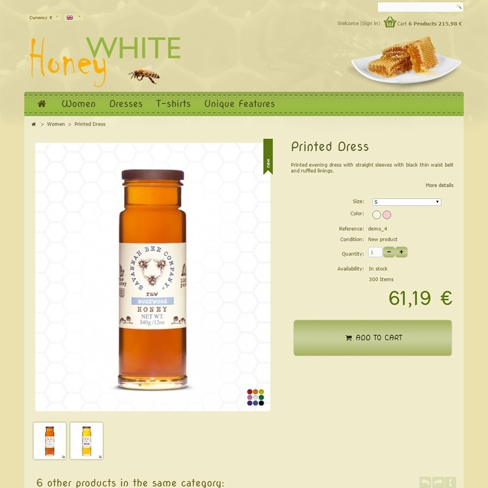 theme - Food & Restaurant - White Honey - 5