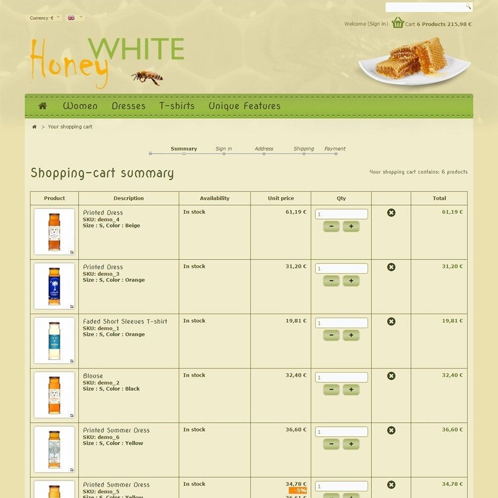 theme - Food & Restaurant - White Honey - 6