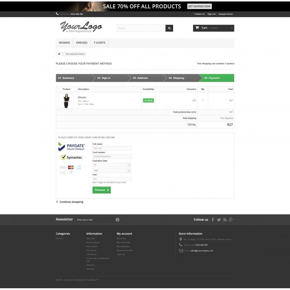 module - Pagamento por cartão ou por carteira - Paygate Payhost Credit Card Payment - 1