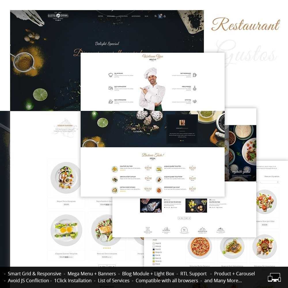 theme - Alimentation & Restauration - Restaurant - 1