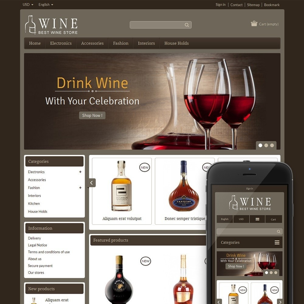 theme - Drank & Tabak - Online Wine Shop - 1