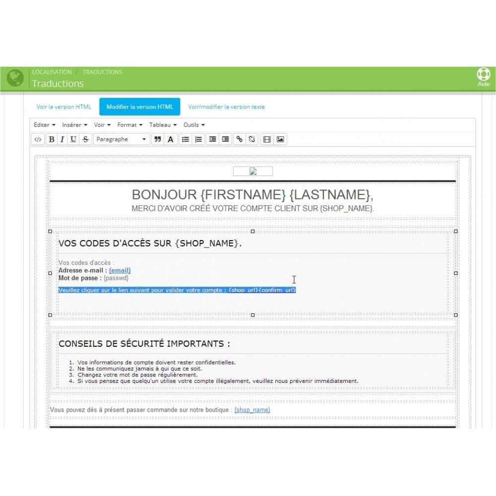 module - E-mails & Notifications - Check Authentification / Validation de mail - 2