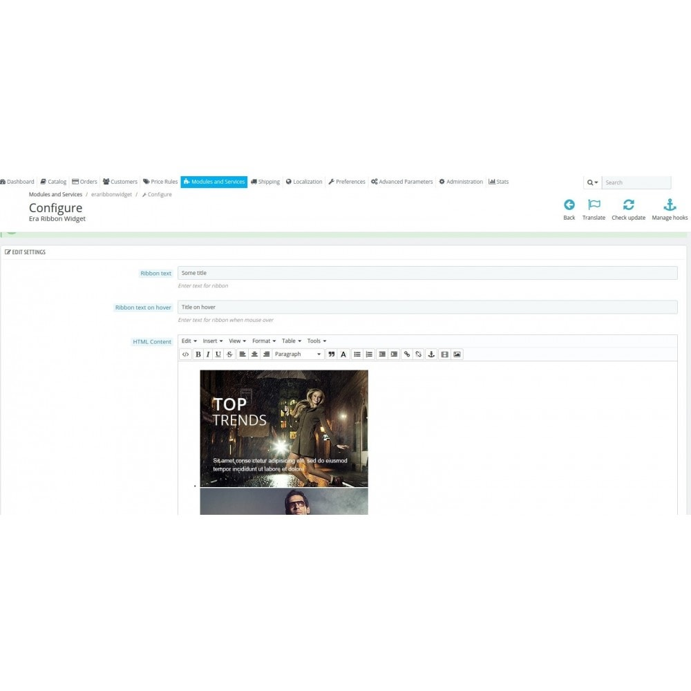 module - Personalizacja strony - Era Ribbon Widget - 4