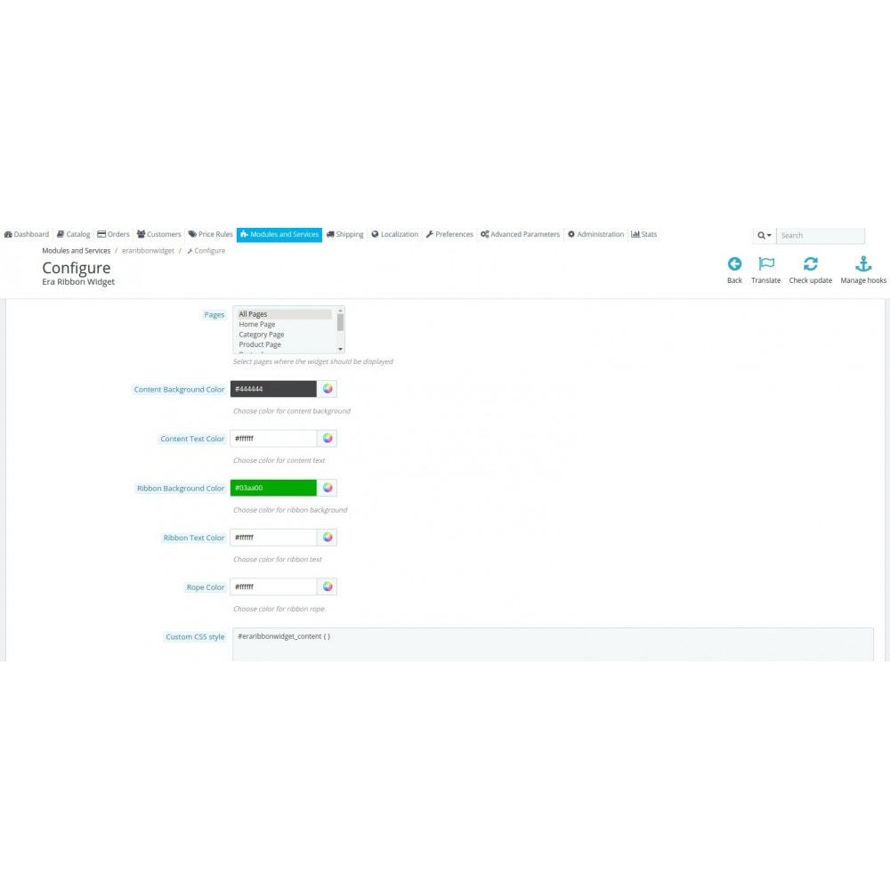 module - Personalizacja strony - Era Ribbon Widget - 5