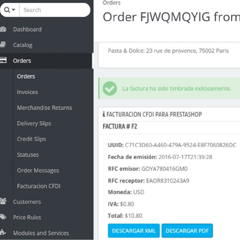 module - Contabilità & Fatturazione - Electronic CFDI Invoice for Mexico - 1