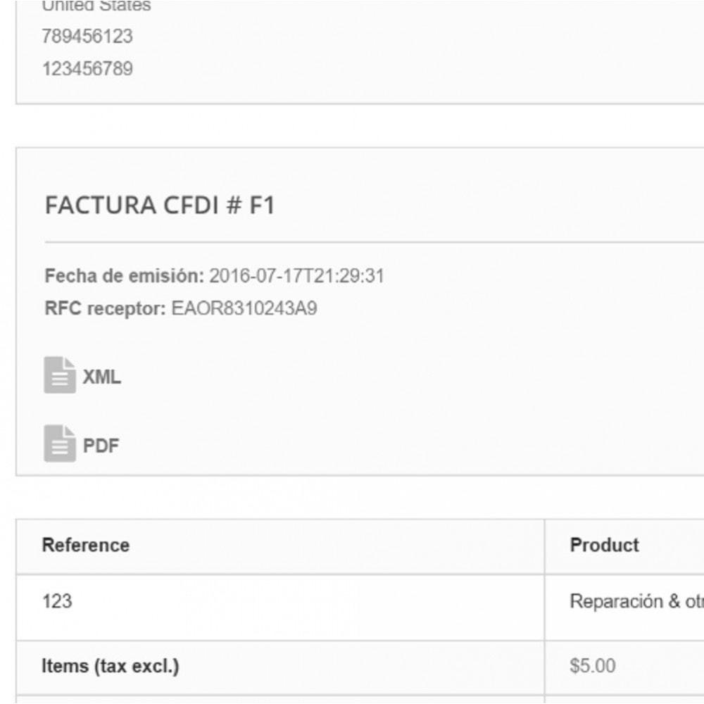 module - Contabilità & Fatturazione - Electronic CFDI Invoice for Mexico - 3