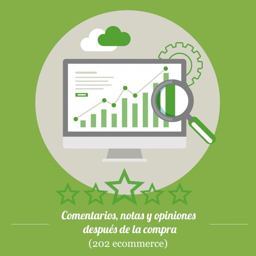module - Comentarios de clientes - Comentarios, notas y opiniones después de la compra - 1