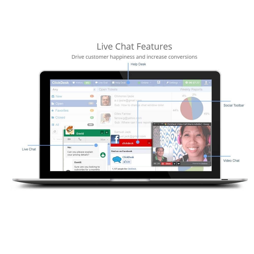 module - Asistencia & Chat online - ClickDesk - LiveChat and Help Desk - 2