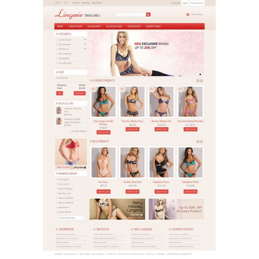 theme - Lingerie & Adult - Lingerie Online Store - 2