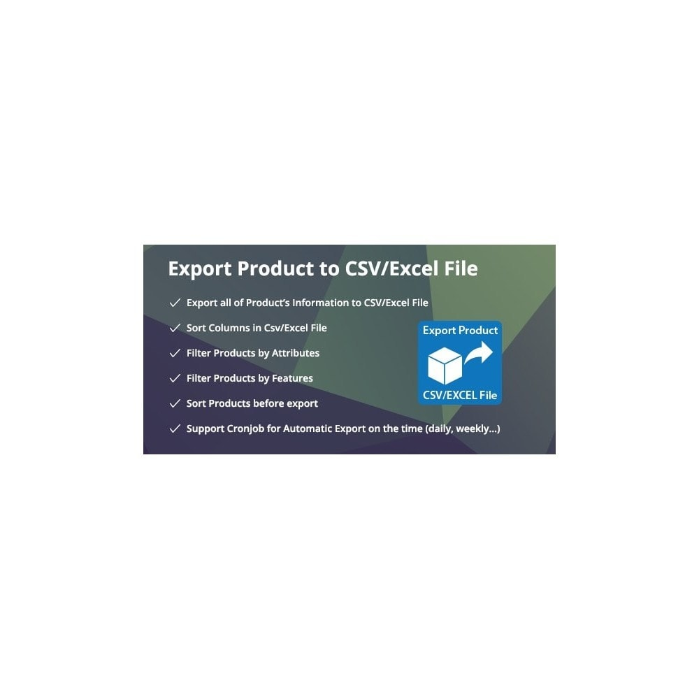 module - Import & Eksport danych (csv, pdf...) - Filter & Export Product to CSV/Excel File Pro - 1