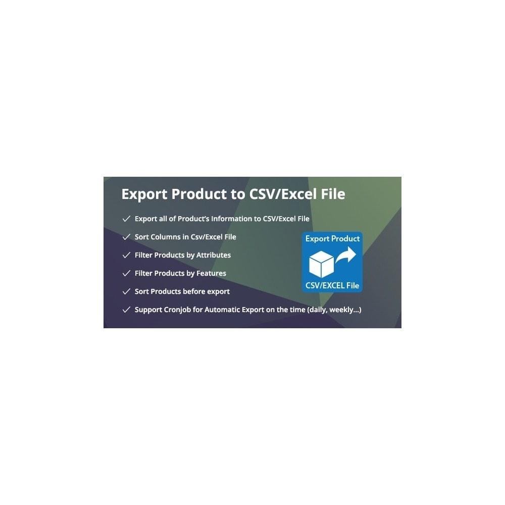 module - Importação & exportação de dados - Filter & Export Product to CSV/Excel File Pro - 1