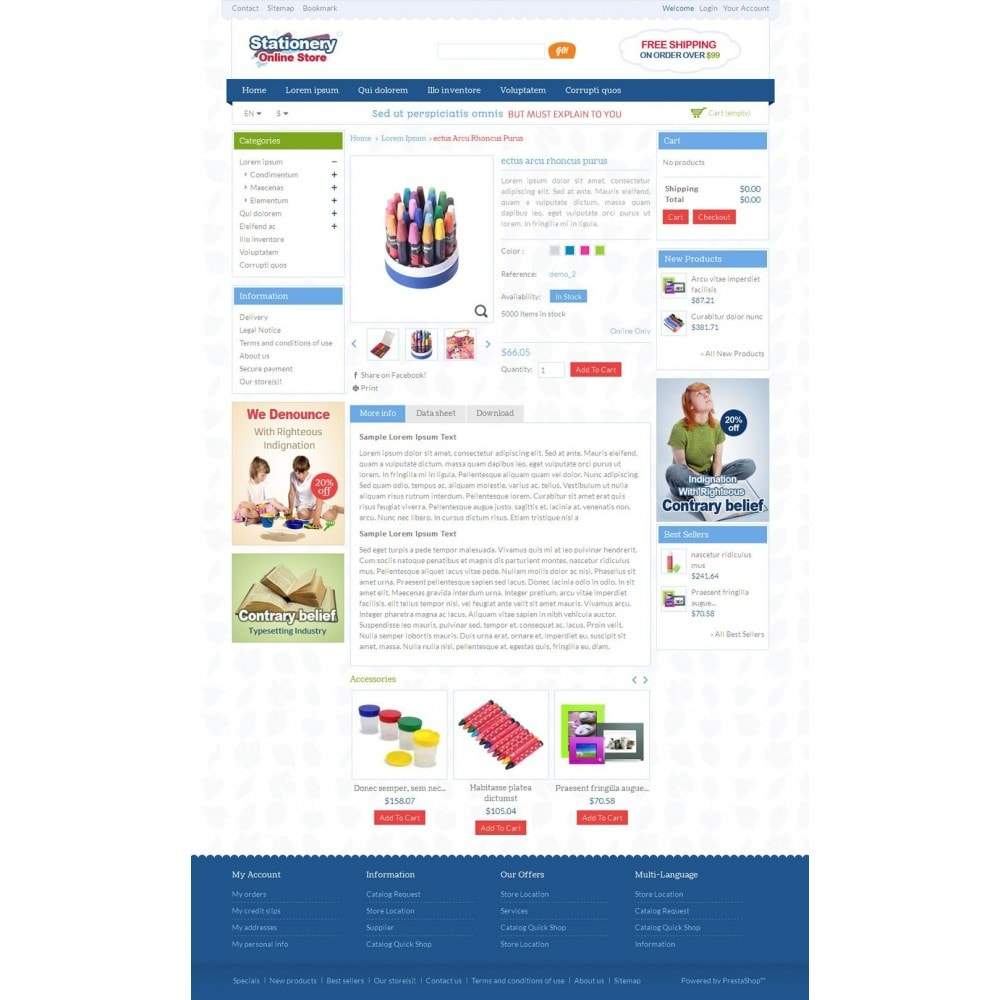 theme - Искусство и Культура - Stationery Online Store - 4