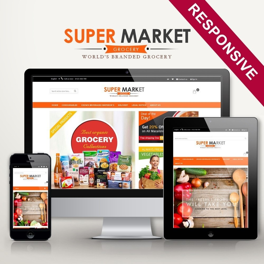 theme - Продовольствие и рестораны - Supermarket Grocery Shop - 1