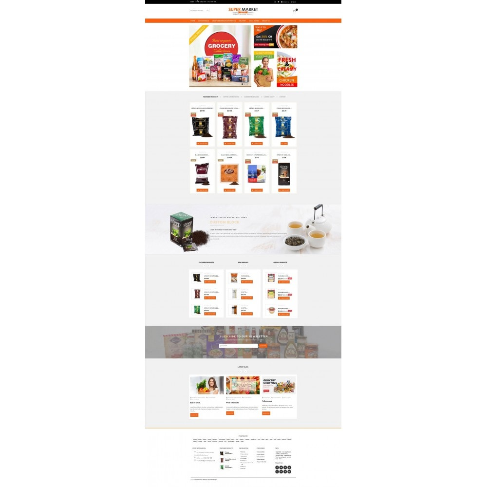 theme - Продовольствие и рестораны - Supermarket Grocery Shop - 2