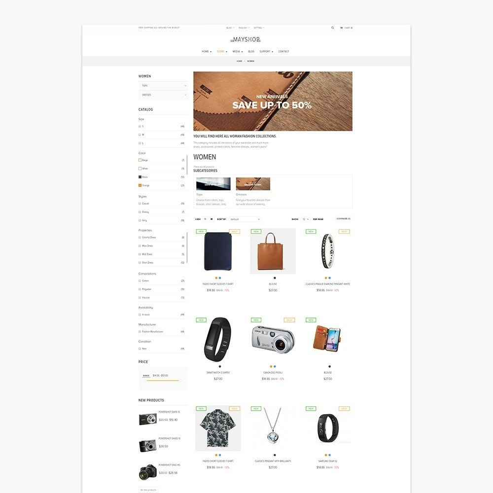 theme - Мода и обувь - Leo May Shop - 3