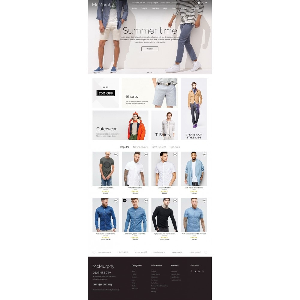 theme - Мода и обувь - McMurphy Men's Wear - 5