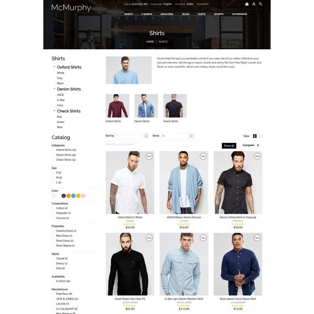 theme - Fashion & Shoes - McMurphy Men's Wear - 6