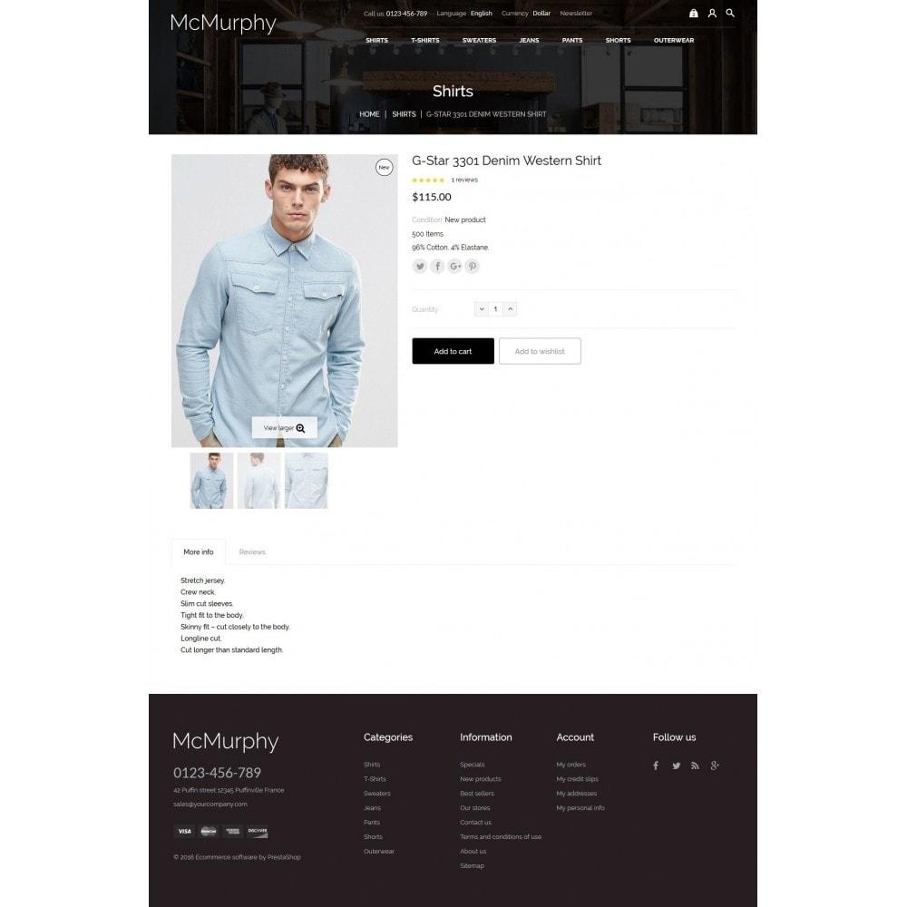 theme - Fashion & Shoes - McMurphy Men's Wear - 8