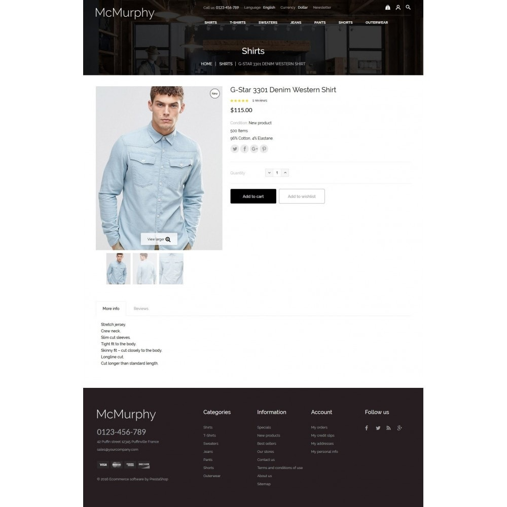 theme - Moda & Calzature - McMurphy Men's Wear - 8