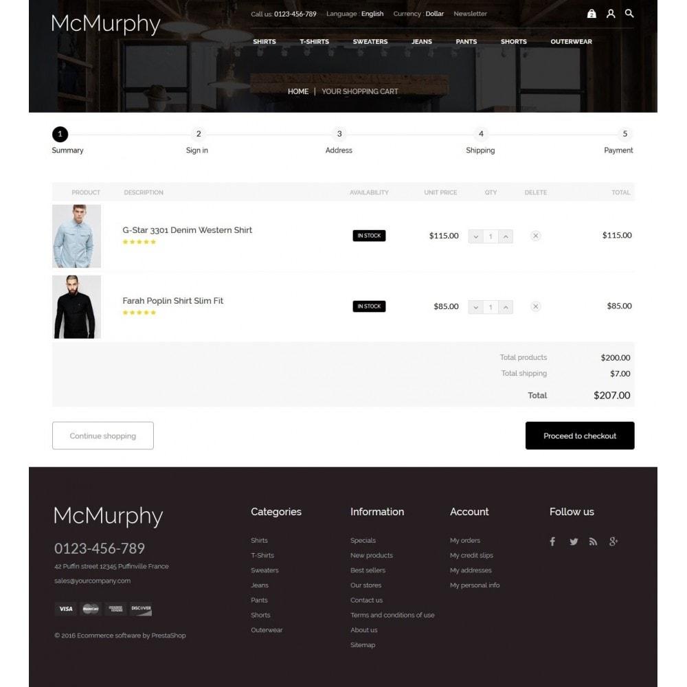 theme - Fashion & Shoes - McMurphy Men's Wear - 9