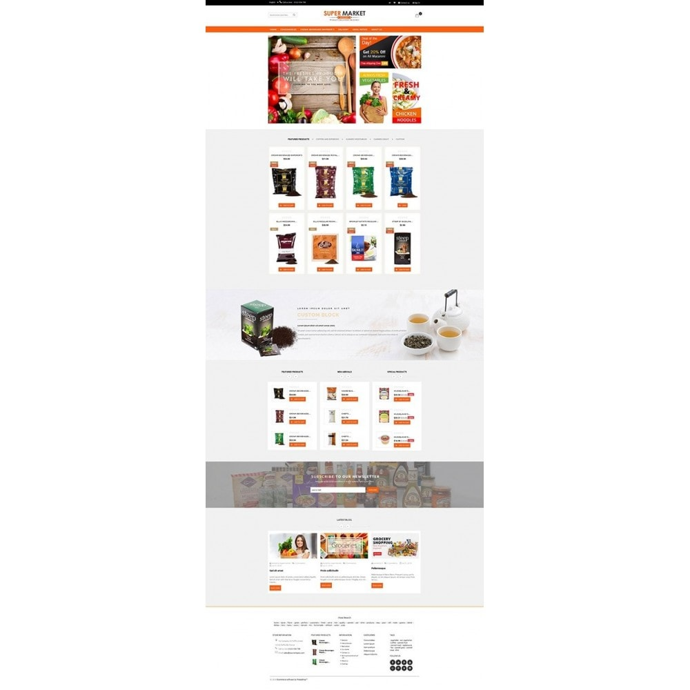 theme - Продовольствие и рестораны - Supermarket Grocery Shop - 5