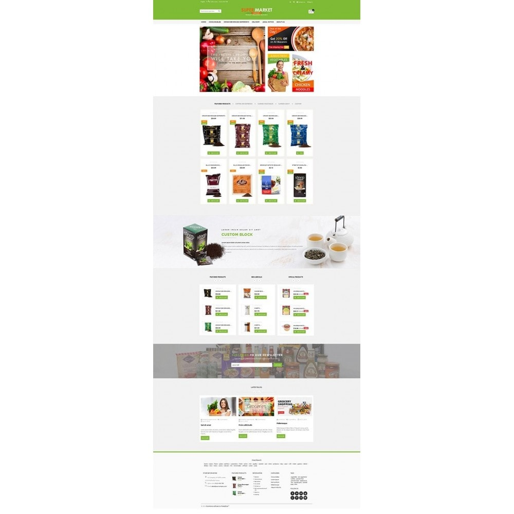 theme - Продовольствие и рестораны - Supermarket Grocery Shop - 9